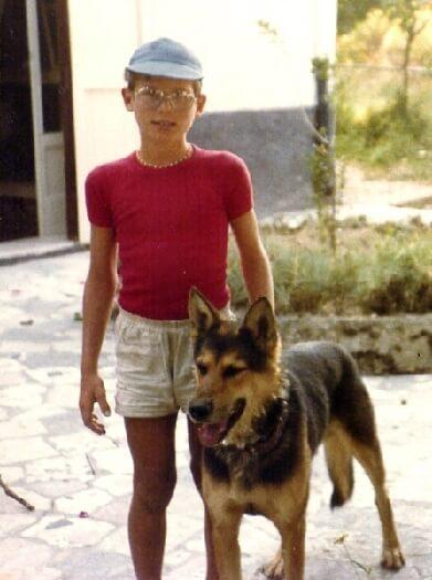 1979 con il cane Lothar