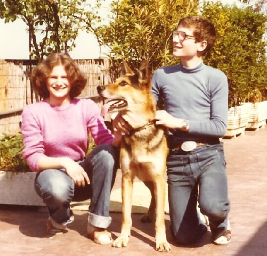 1980 con Fabrizia e Lothar