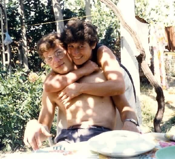 1985 con la mamma