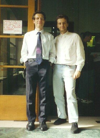 1993 con Gabriele il giorno della laurea