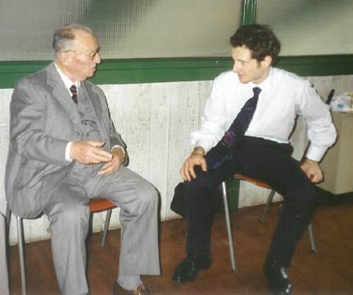 1993 con il nonno il giorno della laurea