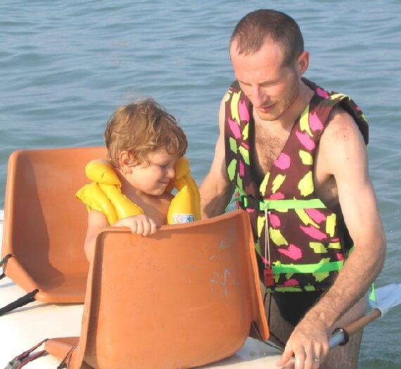 2003 Micol con il papà