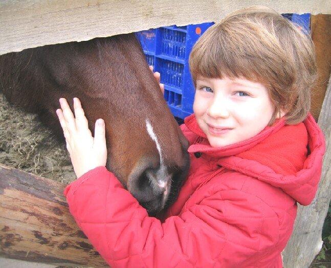 2005 Micol con un cavallo