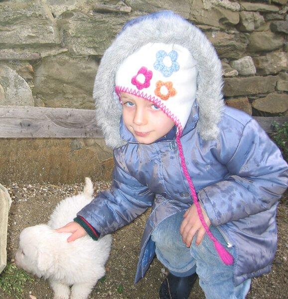 2007 Mia con pastore maremmano