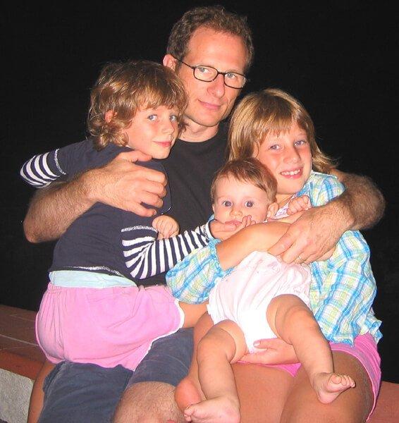2008 le 3 bimbe con il papà