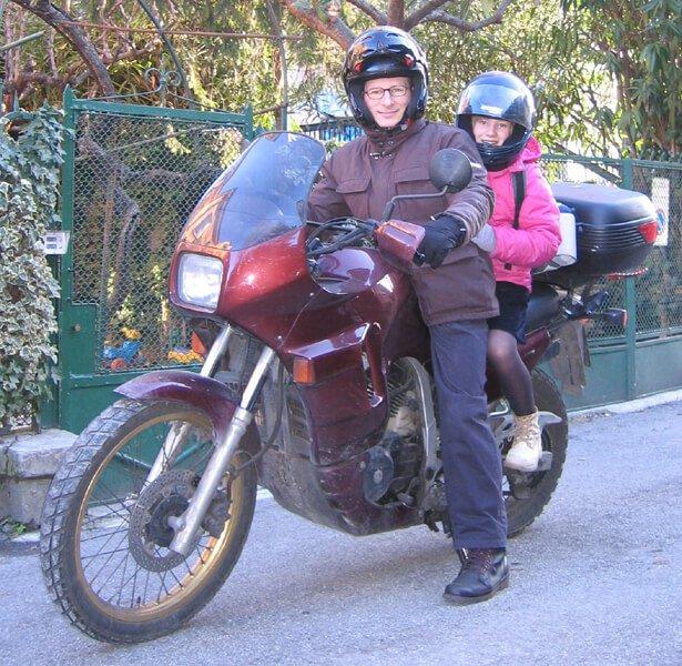2009 Massimo in moto con Micol