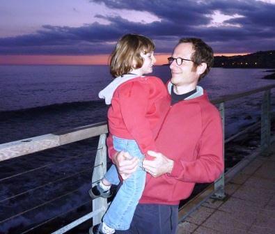 2012 Maia con il papà in Liguria